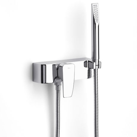 Roca Thesis Chrome Wall Mounted Shower Mixer & Kit - 5A2050C00 profile large image view 1