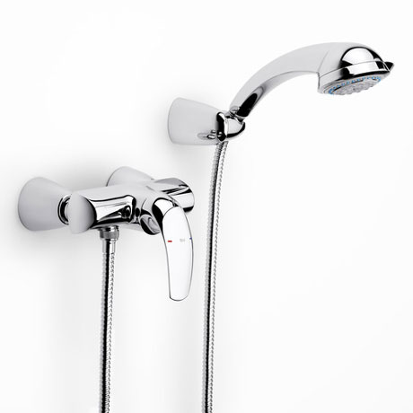 Roca M2-N Chrome Wall Mounted Shower Mixer & Kit - 5A2068C00
