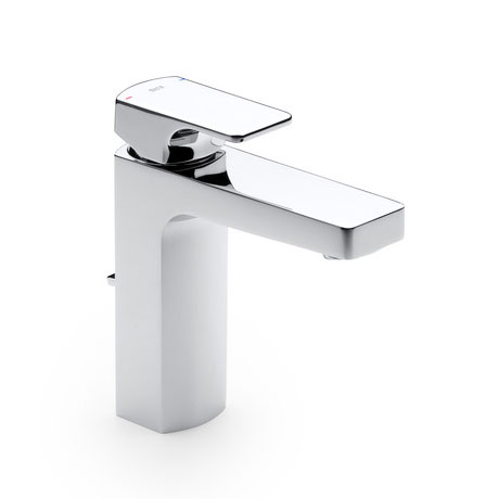 Roca L90 Chrome Basin Mixer Tap with Pop-up Waste - 5A3001C00