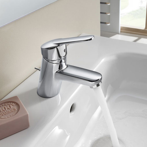 Roca Victoria V2 Chrome Basin Mixer Tap with Pop-up Waste - 5A3025C00 profile large image view 2