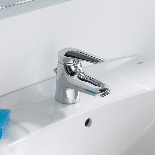 Roca Monojet-N Chrome Basin Mixer Tap excluding Waste - 5A3139C00 profile large image view 2