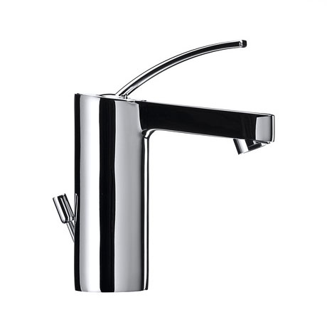 Roca Moai Chrome Basin Mixer Tap with Pop-up Waste - 5A3046C00 Profile Large Image
