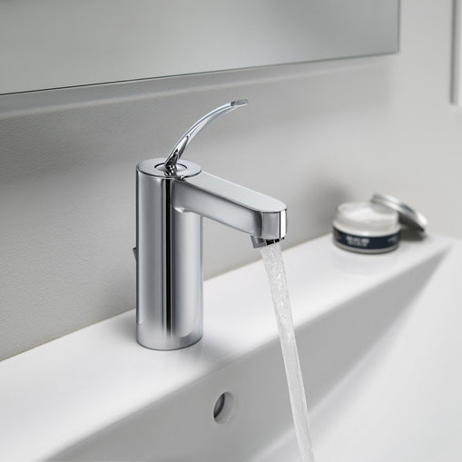 Roca Moai Chrome Basin Mixer Tap with Pop-up Waste - 5A3046C00 Feature Large Image