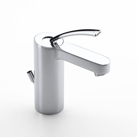 Roca Moai Chrome Basin Mixer Tap with Pop-up Waste - 5A3046C00 Large Image