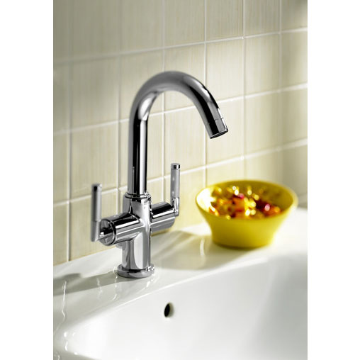 Roca Loft Elite Chrome Basin Mixer Tap with Pop-up Waste - 5A3051C00 Profile Large Image