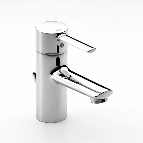 Roca Targa Chrome Basin Mixer Tap with Pop-up Waste - 5A3060C00 profile large image view 1