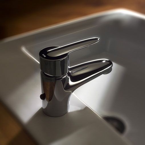 Roca Vectra Chrome Basin Mixer Tap excluding Waste - 5A3161C00 profile large image view 2