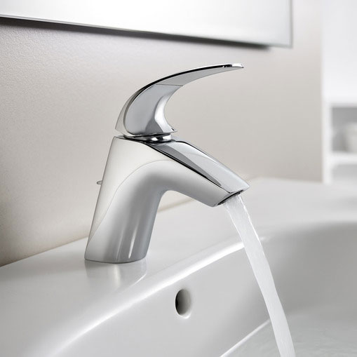 Roca M2-N Chrome Basin Mixer with Pop-up Waste - 5A3068C00 profile large image view 2