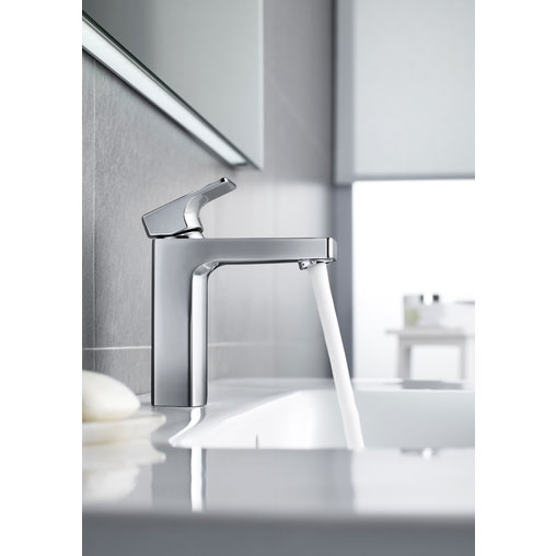 Roca L90 Chrome Basin Mixer excluding Waste - 5A3201C00 profile large image view 2
