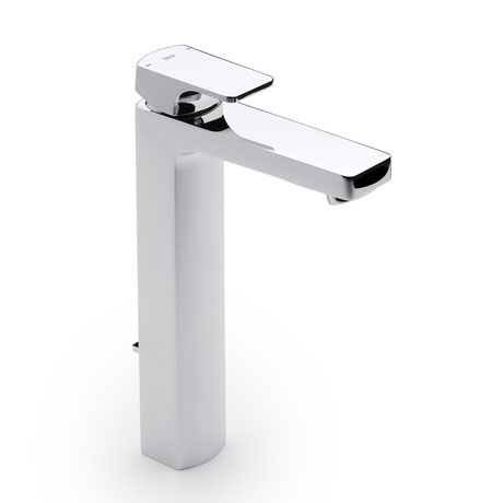Roca L90 Chrome Extended Basin Mixer Tap with Pop-up Waste - 5A3401C00 Large Image