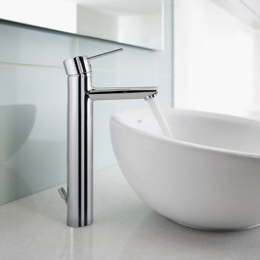 Roca Targa Chrome Extended Basin Mixer Tap with Pop-up Waste - 5A3460C00 profile large image view 3