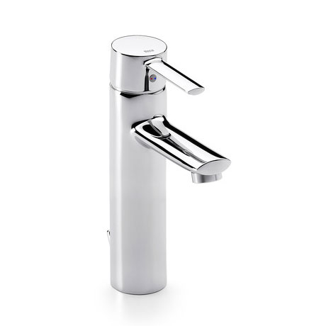 Roca Targa Chrome Extended Basin Mixer Tap with Pop-up Waste - 5A3460C00 profile large image view 1