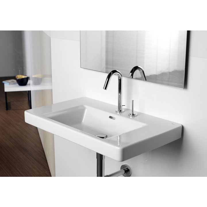 Roca Singles Pro Chrome Basin Mixer with Joystick Control & Pop-up Waste - 5A3819C00 profile large image view 2