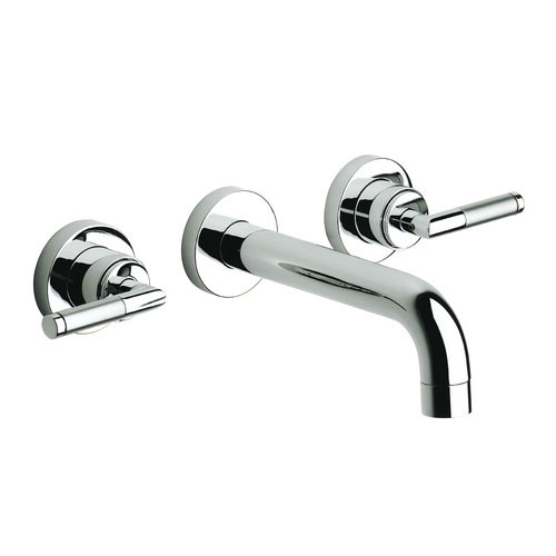 Roca Loft Elite Chrome Wall Mounted 3 Hole Basin Mixer - 5A4751C00 profile large image view 1