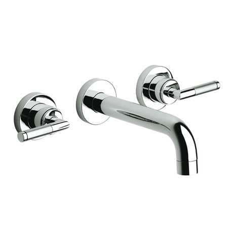 Roca Loft Elite Chrome Wall Mounted 3 Hole Basin Mixer - 5A4751C00