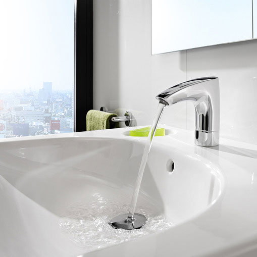 Roca M3 Electronic Basin Mixer - Mains Operated - 5A5502C00 profile large image view 2
