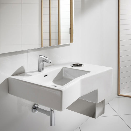 Roca M3 Electronic Basin Mixer - Battery Operated - 5A5302C00 profile large image view 3