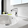 Roca - M3-E Infra-Red Battery Operated Electronic Basin Mixer Tap - Chrome - 5A5602C00 profile small image view 1