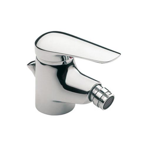 Roca Monojet-N Chrome Bidet Mixer with Pop-up Waste - 5A6039C00 Large Image