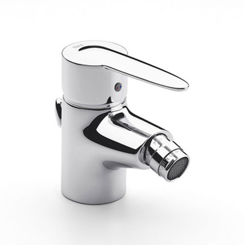 Roca Vectra Chrome Bidet Mixer with Pop-up Waste - 5A6061C00 Large Image