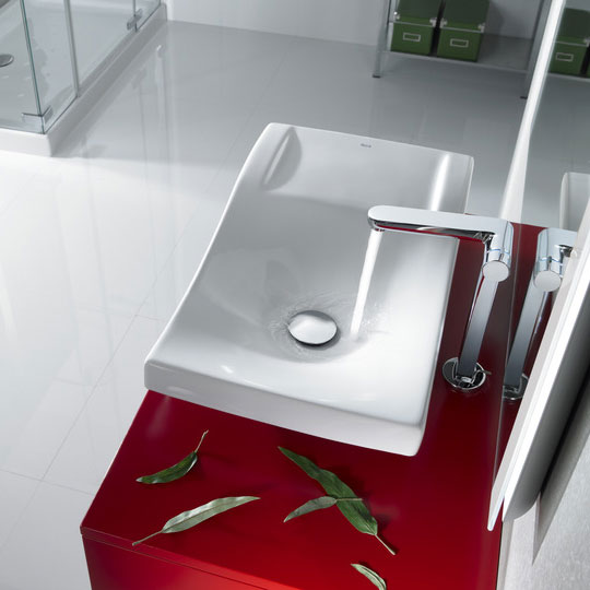 Roca Singles Pro Chrome Extended Basin Mixer with Progressive Technology & Pop-up Waste - 5A7536C00 Profile Large Image