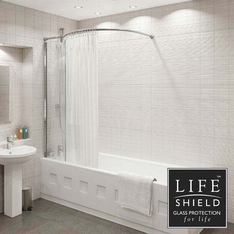 KUDOS Inspire Over Bath Shower Panel with Bow Corner Rail