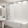 KUDOS Inspire Over Bath Shower Panel with Bow Corner Rail profile small image view 1
