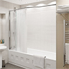 KUDOS Inspire Over Bath Shower Panel with Bow Recess Rail profile small image view 1