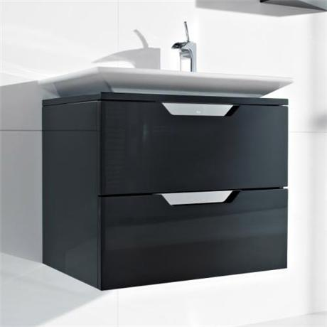 Roca - Kalahari-N 2 Drawer Vanity Unit with W650mm Basin - 0 TH - 3 x Colour Options