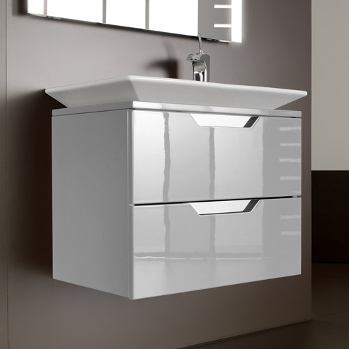 Roca - Kalahari-N 2 Drawer Vanity Unit with W800mm Basin - 0 TH - 3 x Colour Options Large Image