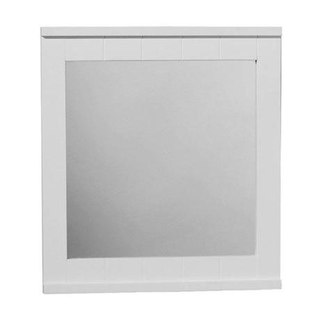 White Wood Wall Mirror - 1600960