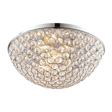 Endon Chryla Flush Bathroom Ceiling Light Fitting