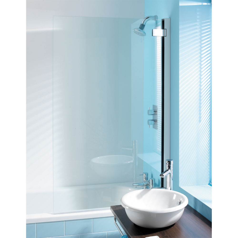 Simpsons - Classic Hinged Bath Screen - 860mm Large Image