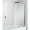 Simpsons Classic Hinged Bath Screen - 860mm profile small image view 1