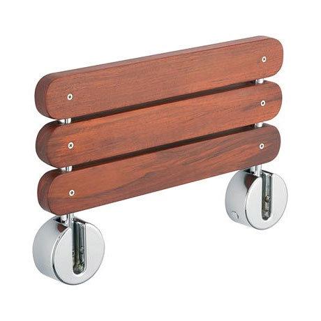Tre Mercati - Premium Wooden Folding Shower Seat - 60470 profile large image view 2