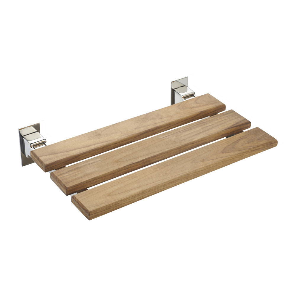 Tre Mercati - Wooden Folding Shower Seat - 60475 profile large image view 1
