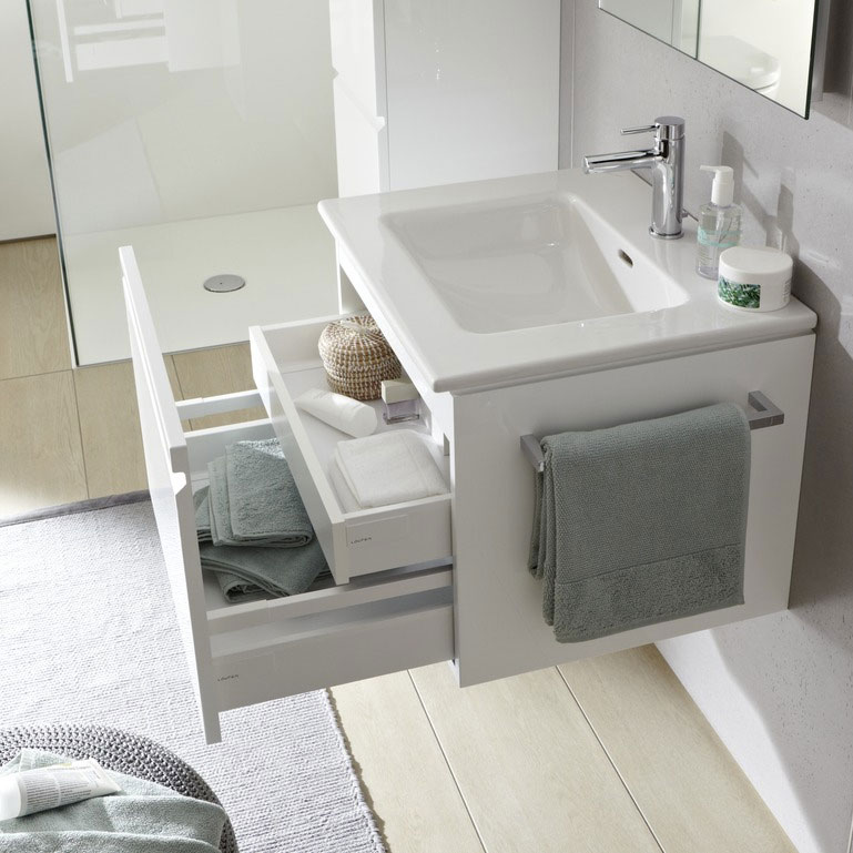 Laufen - Pro S 810mm 1 Drawer Vanity Unit and Basin - 2 x Colour Options profile large image view 2