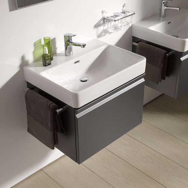 Laufen - Pro S 810mm 1 Drawer Vanity Unit and Basin - 2 x Colour Options profile large image view 4