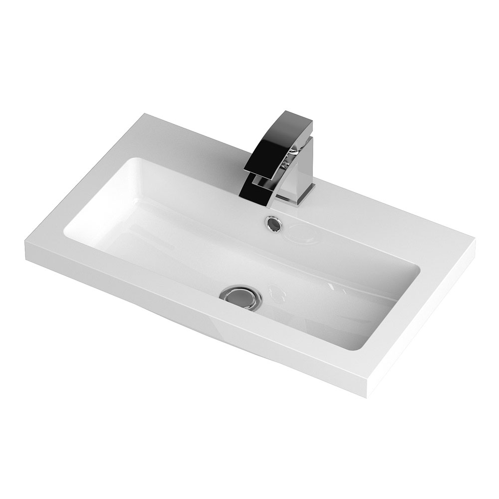 Apollo 600mm Wall Hung Vanity Unit (Gloss Cashmere - Depth 355mm) Feature Large Image
