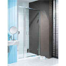 Simpsons - Classic Hinged Shower Door with Inline Panel - 3 Size Options Medium Image