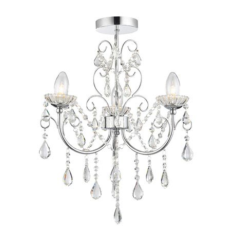 Endon Tabitha Semi-Flush Bathroom Ceiling Light Fitting