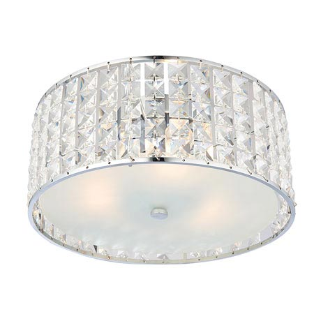 Endon Belfont Flush Bathroom Ceiling Light Fitting