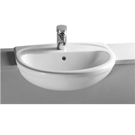 Vitra - Layton Semi-Recessed Basin - 1 or 2 Tap Hole Option