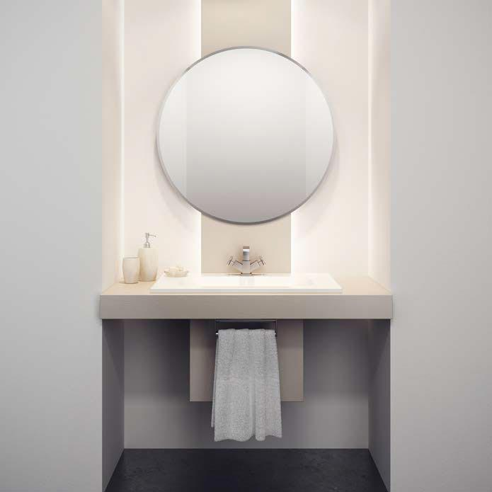HIB Rondo Circular Bathroom Mirror - 61504000  Profile Large Image