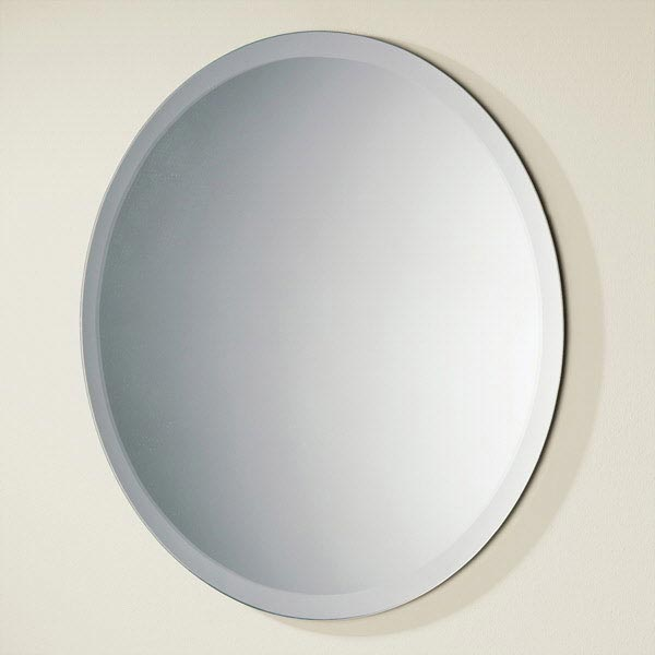 HIB Rondo Circular Bathroom Mirror - 61504000 Large Image