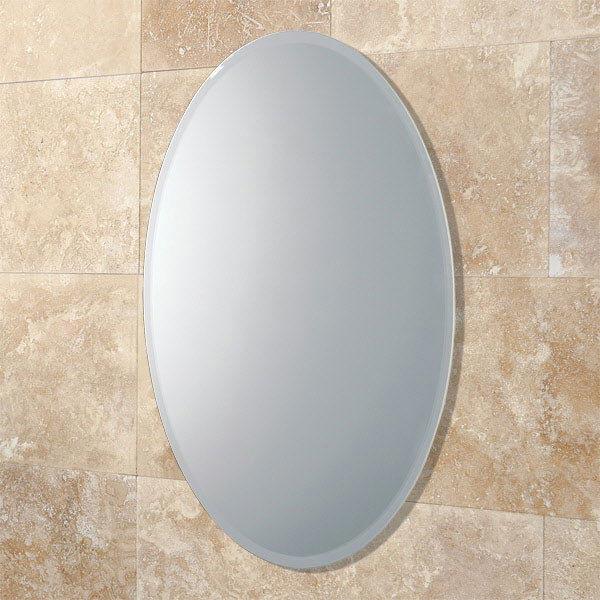 HIB Alfera Oval Bathroom Mirror - 61643000 Large Image