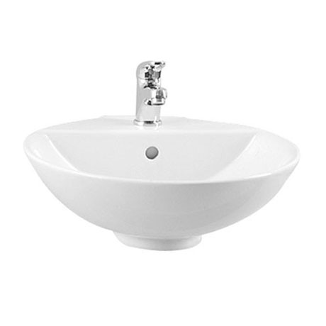 Vitra - Options 45cm Countertop Vanity Basin - 1 Tap Hole - 6166