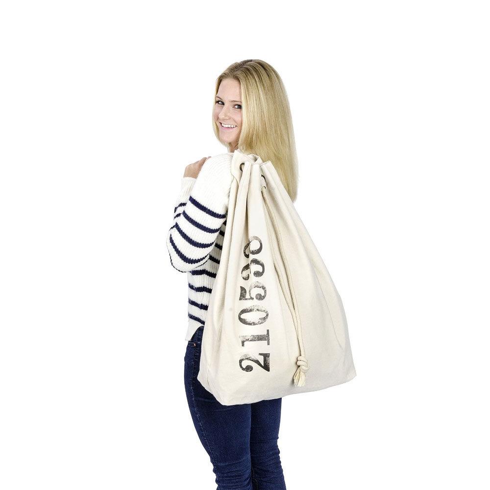 Wenko Sailor Laundry Bag - Beige - 62040100 profile large image view 6