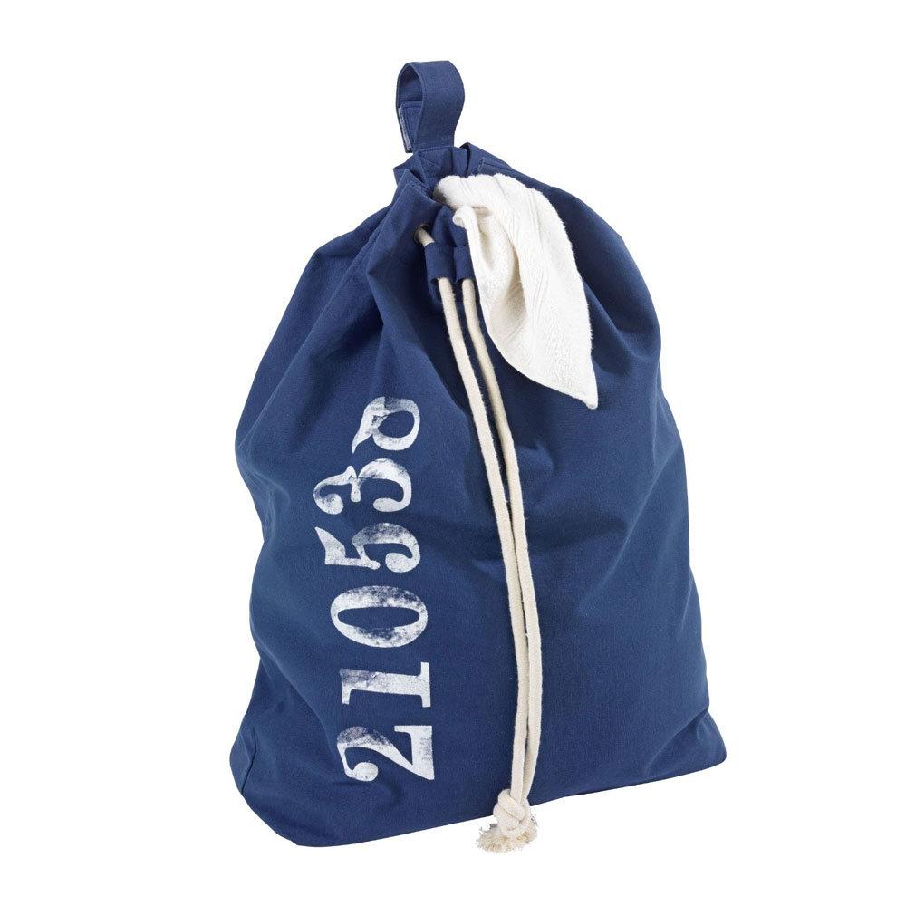 Wenko Sailor Laundry Bag - Blue - 62041100 Profile Large Image