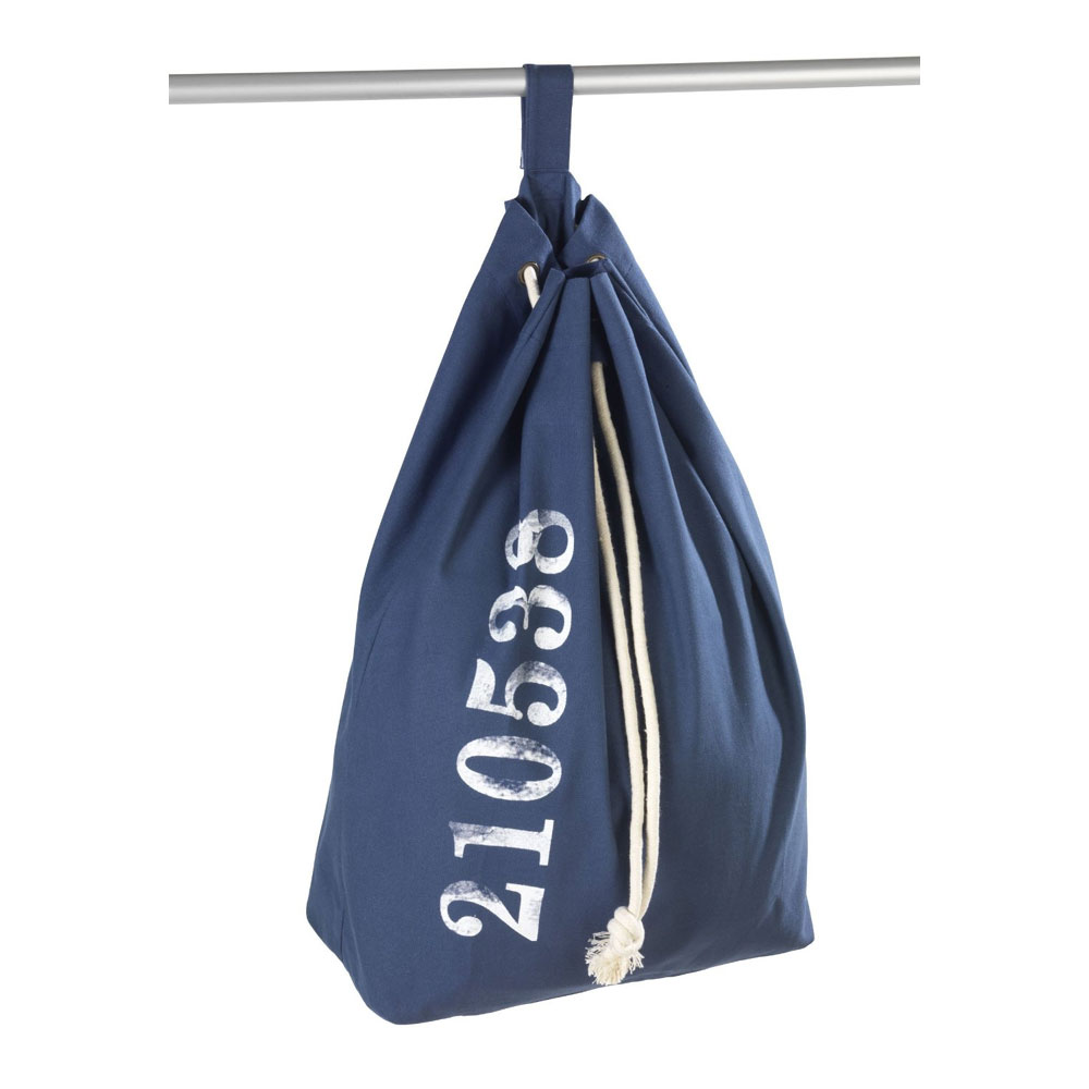 Wenko Sailor Laundry Bag - Blue - 62041100 Feature Large Image